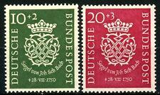 GERMANY 1951 COMPLETE SET of 2 JOHANN SEBASTIAN BACH SC B314-B315 MH