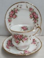 English Paragon Elizabeth Rose Pattern Bone China Trio Made in England 1981 Only