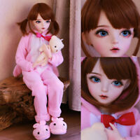 60cm BJD Doll Girl with Free Face Makeup Changeable Eyes Clothes Full Set Gifts