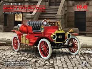 American Car Model T 1914 Fire Truck (Plastic model kit) 1/35 ICM 35605