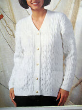 "#80 Ladies DK Cable Cardigan 32-46"" 81-117cm Vintage Knitting Pattern"