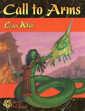 Clan War-Legend of the Five Rings-CALL TO ARMS-RPG Roleplaying Game (SC) - RARE