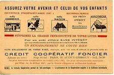 CARTE POSTALE / PUBLICITAIRE / CREDIT COOPERATIF FONCIER PARIS 1949
