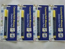 4 x Money Tester Pen Counterfeit Bank Note Detector Pens New in packets