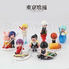 8pcs Tokyo Ghoul Ken Touka Tsukiyama Uta Naki Nishiki 3-6cm PVC Figure Loose
