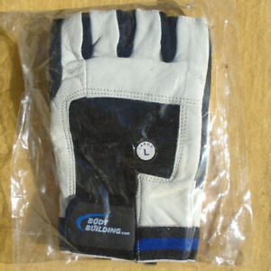 1 Pair Body Building Workout Gloves Size Large - NEW in Sealed Plastic Wrap