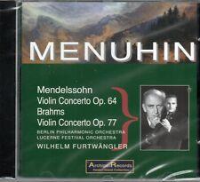 MENDELSSOHN VIOLIN CONC OP64 - BRAHMS VIOLIN CONC OP 77 - MENUHIN - FURTWANGLER