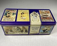 Vintage CADBURY'S  Canister/Box Chocolate Biscuits Collectible Tin GOOD GRAPHICS