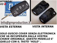 GUSCIO CHIAVE TELECOMANDO HYUNDAI I20 I30 IX35 SE originali identiche TASTO HOLD