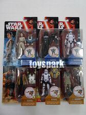 "star wars 3.75"" 2015 Wave 1 Rey Finn Darth Vader Stormtrooper action figure x 6"