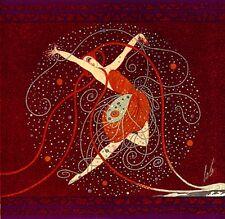 La rose au pollen de diamants 22x30 Art Deco Print by Erte