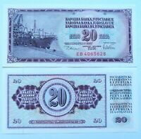 YUGOSLAVIA 20 dinara 1978, P-88a. Plancha UNC.