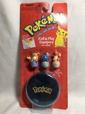 Pokémon 1999 Roll And Play Stampers W/ Holder