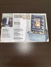 Homedics Envirascape Decorative Fountain Picture Frame waterfall relaxing WF-PF3