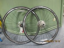 Shimano/Alex road disc wheelset w/ 9 spd cassette, discs, Vittoria tires & tubes