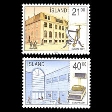 "Islanda 1990 - Europa Francobolli "" Postale Uffici "" Architettura - Sc 698/9 MNH"