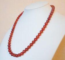 """Edelsteinkette Rot Achat Collier 47cm Halskette 7,5 - 8 mm Perlen  """"True Gems"""""""