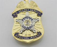 U.S SECRET SERVICE USSS METAL BADGES PIN REAL SIZE EMBLEM COPPER COLLECTIBLES