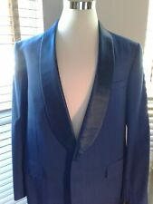 Custom Tailored Royal Blue Formal Tuxedo Dinner Jacket 44R  P10401