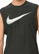 e715a2c3ea55f NEW Men s Nike Breathe Muscle Training Tank Top Dark Gray AQ1002-010 Size  XLarge