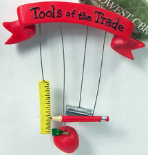 Teacher Tools Of The Trade Christmas Ornament Pencil Midwest Season Canon Falls