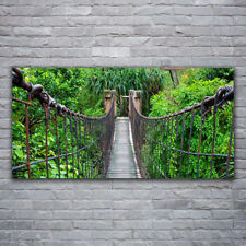 Wall art Print on Plexiglas® Acrylic 120x60 Bridge Trees Architecture