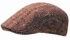 STETSON FLATCAP KAPPE MÜTZE MADISON TWEED  HERRINGBONE BORDEAUX BEIGE 59 NEU