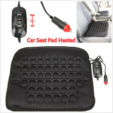 Universal 12V Car Seat Heated Cushion Warmer Pad Quick Warming Heater Mat Black