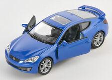 BLITZ VERSAND Hyundai Genesis Coupe azurblau Welly Modell Auto 1:34 NEU & OVP