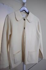 Casual Corner 100% Wool Ivory 5 Button Jacket Size - Small