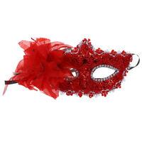 Masque Venitien Venise Plastique Halloween Fete Spectacle Carnaval ROUGE A6O2