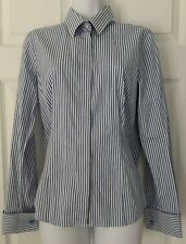 THOMAS PINK, UK 12, Blue & White Striped Long Sleeved Shirt, Excellent Condition