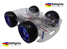 ROBOT SMART CAR CHASSIS AUTO MONSTER 4 RUOTE CAR BODY KIT 4WD ARDUINO + MOTORI