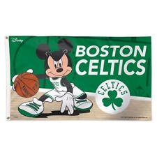 BOSTON CELTICS MICKEY MOUSE DISNEY 3'X5' DELUXE FLAG NEW WINCRAFT