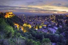 GRANADA SPAIN CITYSCAPE POSTER PRINT 24x36 HI RES