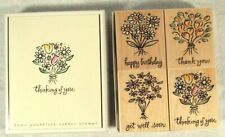 Hero Arts Bouquets of Wishes Rubber Stamps Set of 4 New Unused Birthday Get Well