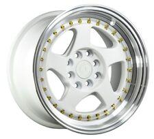 Aodhan Ah01 15X8 4X100/114.3 +20 White Rims Fits Ae86 240Sx Datsun 260Z 280Z