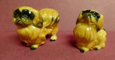 Vintage Dog Figurines Pekingese Peke Hand Painted Expression Dogs Sitting Stand