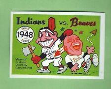 1970 Fleer LAUGHLIN WORLD SERIES 1948 Indians v Braves  #45 BLUE BACK NRMT