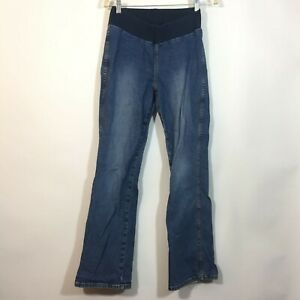 Motherhood Maternity Jeans Size Small Medium Wash Blue Bootcut Denim