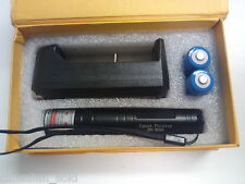 High Quality 532nm 5 Mile Alloy Green Laser Pointer charger 2X batteries BOX SET