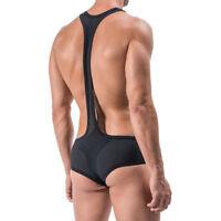 Men Mesh Bodysuit Lingerie Leotard Body Shaper One piece Underwear Jumpsuit