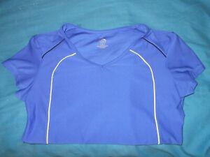 Cascade Sports Womens Large Blue Athletic Shirt