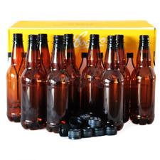 Coopers Bottles Plastic PET 500ml Beer & Screw Cap Home Brew Lager Bottling 48PK