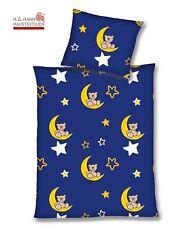 Baby-Bettwäsche Teddy Mond Sterne mit Reißverschluss, Baumwolle 100x135 + 40x60