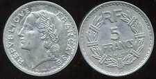 5 francs  LAVRILLIER   ALU 1947 B     ( 9 OUVERT )   ( bis )