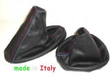 BMW E36 E46 M3 CUFFIA CAMBIO FRENO specifiche PELLE NERA Msport Made in Italy