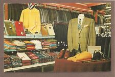 VINTAGE POSTCARD 1969 FRANK'S BIG & TALL MEN'S SHOP TRENTON NEW JERSEY