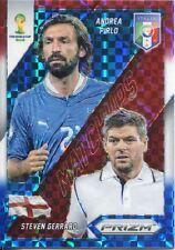 Panini Prizm Wold Cup 2014 Matchups Plaid Prizm #8 Andrea Pirlo & Steven Gerrard