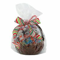 Large Clear Cellophane Gift Basket Bags - Party Supplies - 50 Pieces